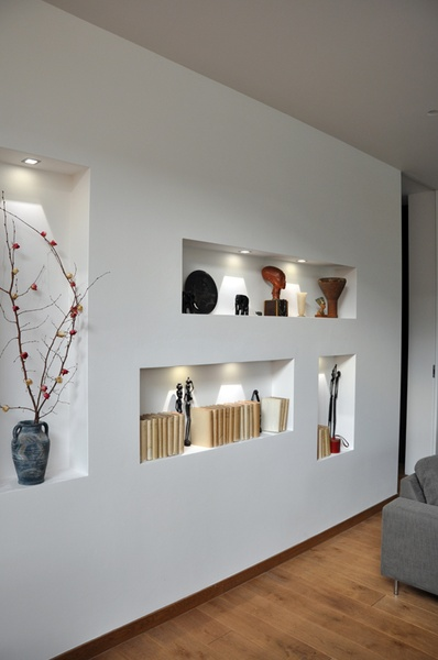 Eingebaute Nischen Im Wohnzimmer